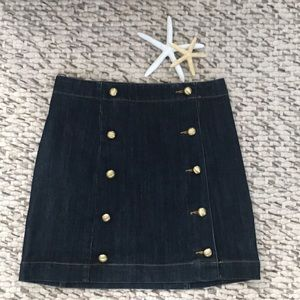 Michael Kors denim skirt with button details